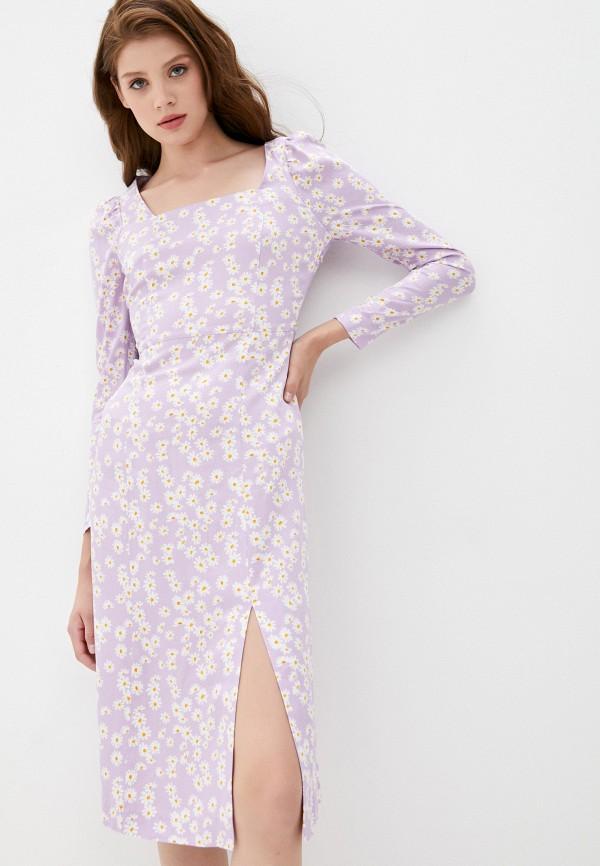 женское повседневные платье la selva, фиолетовое