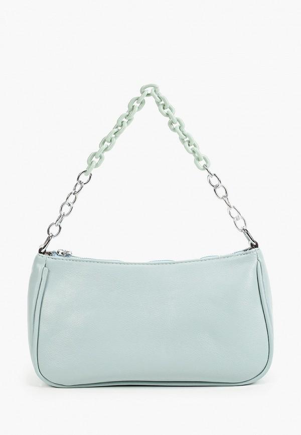женская сумка с ручками dispacci, голубая