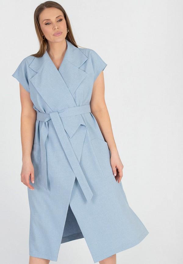 женское платье с запахом eliseeva olesya, голубое