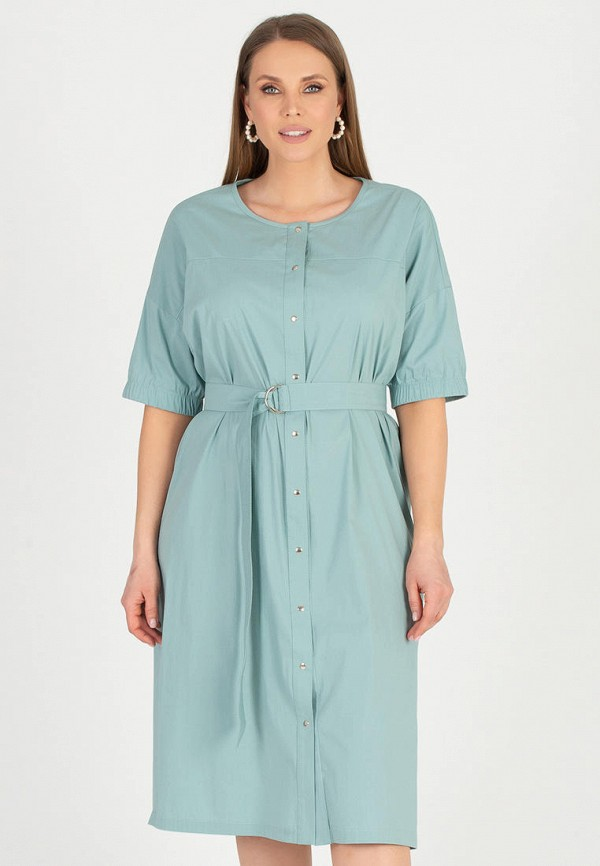 женское повседневные платье eliseeva olesya, зеленое