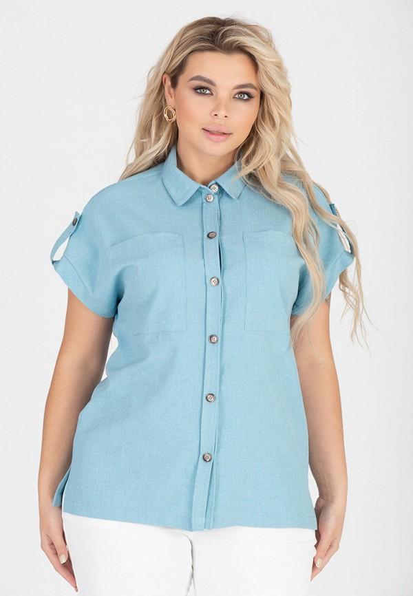 женская блузка с коротким рукавом eliseeva olesya, голубая