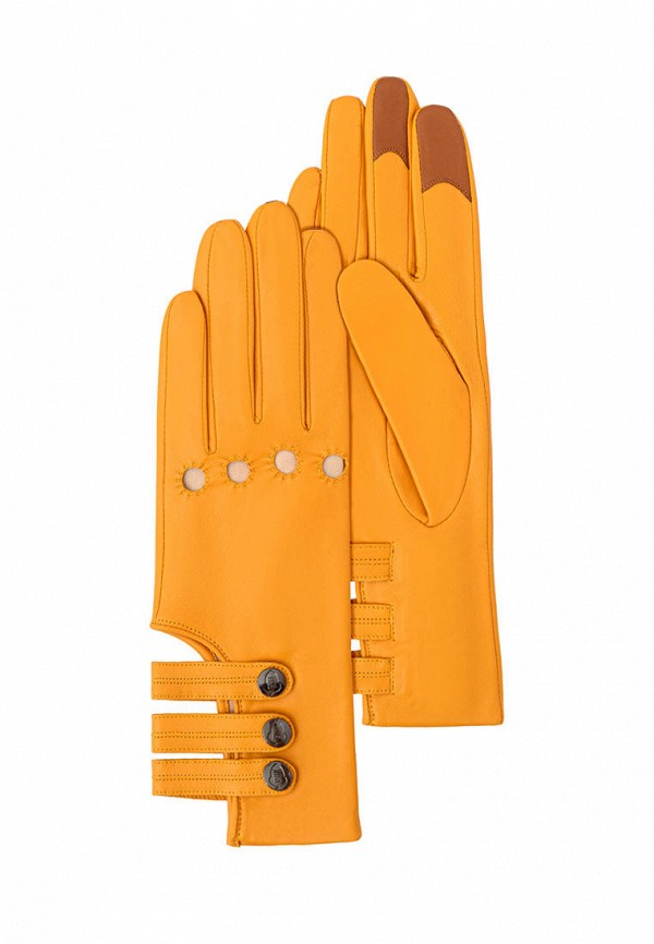женские кожаные перчатки michel katana, желтые