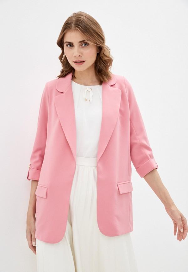 женский жакет avemod, розовый