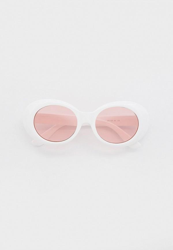 женские круглые солнцезащитные очки wow miami, белые