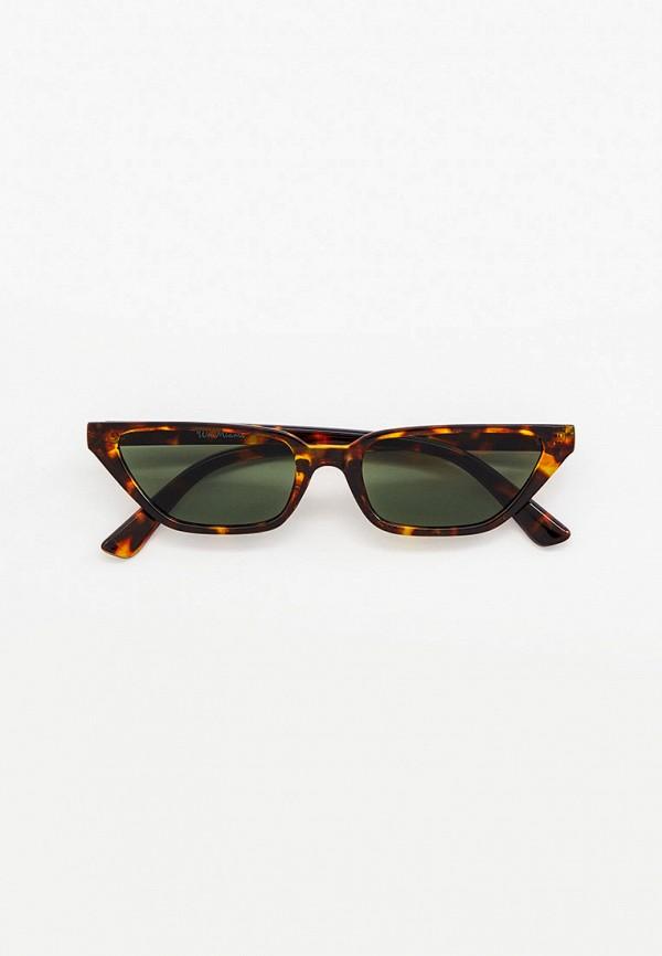 женские солнцезащитные очки wow miami, коричневые