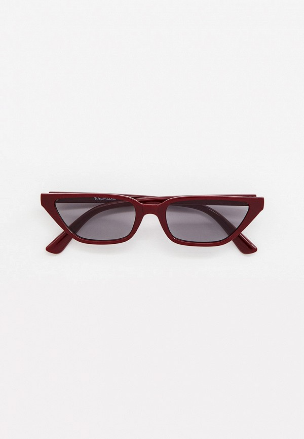 женские солнцезащитные очки wow miami, бордовые