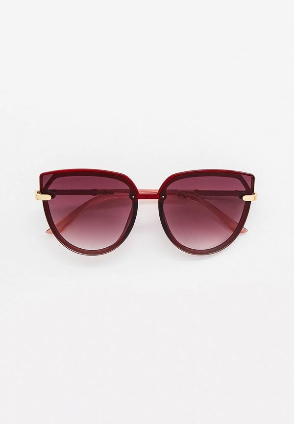 женские солнцезащитные очки кошачьи глаза wow miami, красные