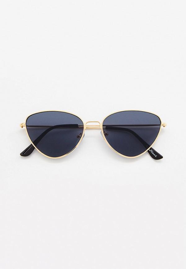 женские солнцезащитные очки кошачьи глаза wow miami, золотые