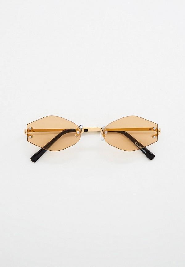 женские солнцезащитные очки wow miami, золотые