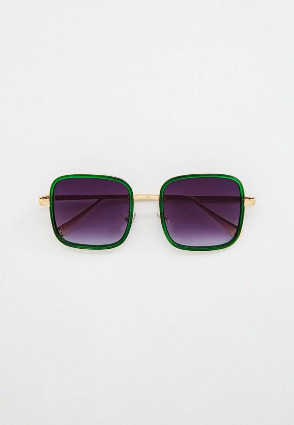 женские квадратные солнцезащитные очки wow miami, зеленые