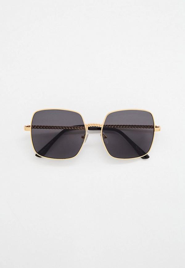 женские квадратные солнцезащитные очки wow miami, золотые