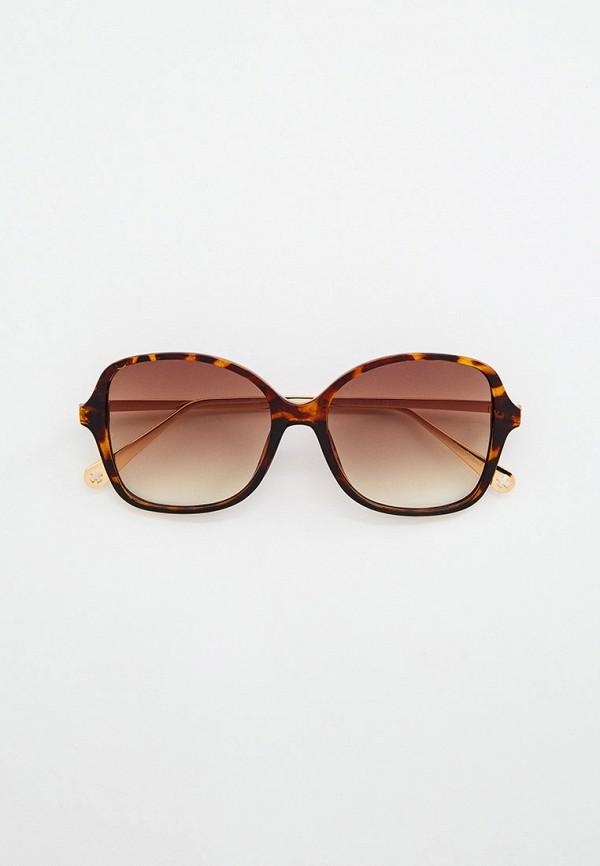 женские круглые солнцезащитные очки wow miami, коричневые