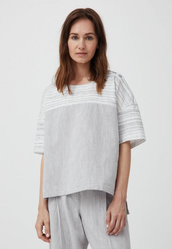 Блуза Finn Flare серого цвета