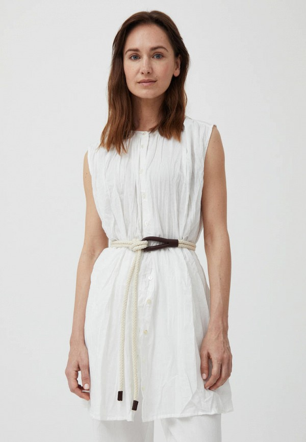 женская блузка без рукавов finn flare, белая