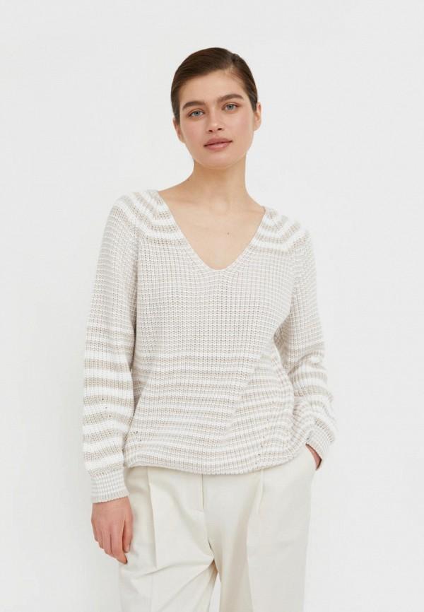 женский пуловер finn flare, бежевый