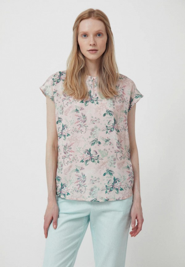 женская блузка с коротким рукавом finn flare, розовая