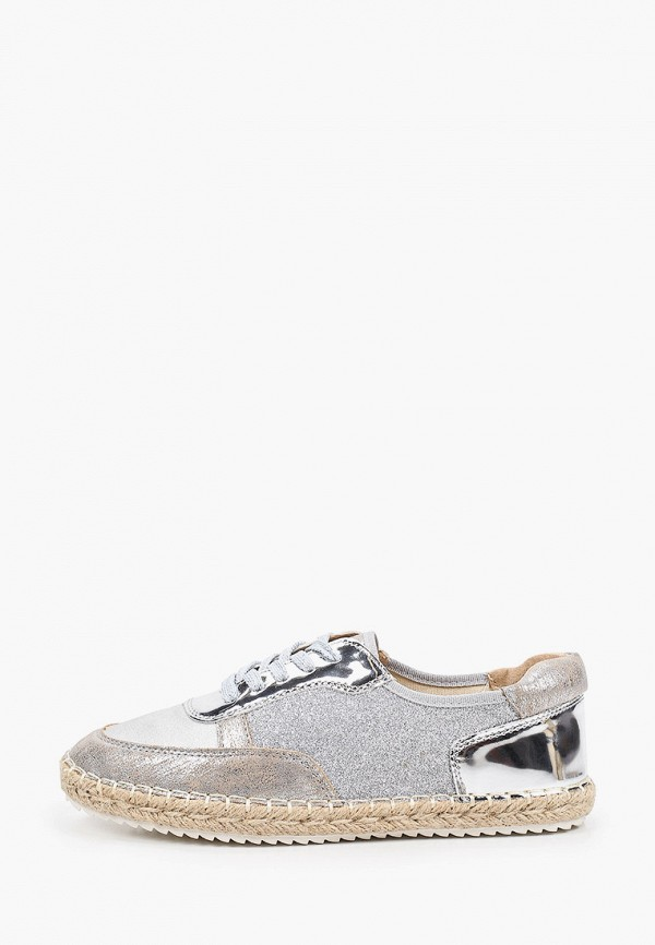 женские низкие кроссовки inario, серебряные