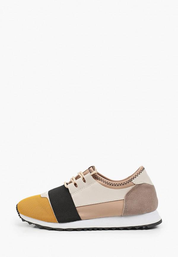 женские низкие кроссовки inario, коричневые