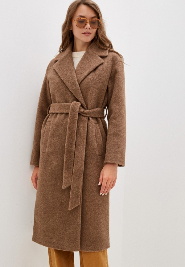женское двубортные пальто vivaldi, коричневое