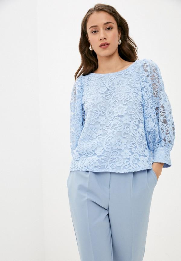 женская кружевные блузка vittoria vicci, голубая
