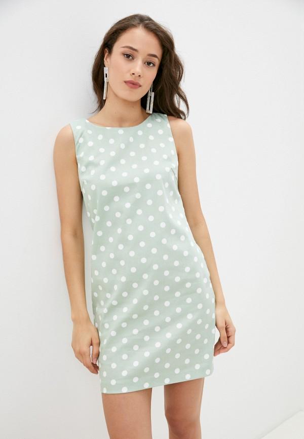 женское платье-футляр vittoria vicci, зеленое