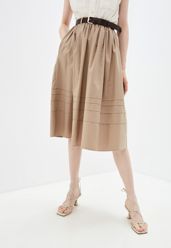 женская юбка-трапеции lusio, бежевая