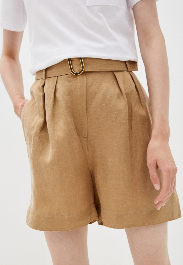 женские повседневные шорты lusio, коричневые