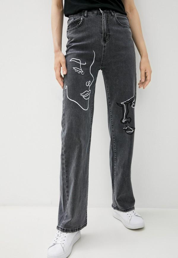 женские джинсы-мом grafinia, серые
