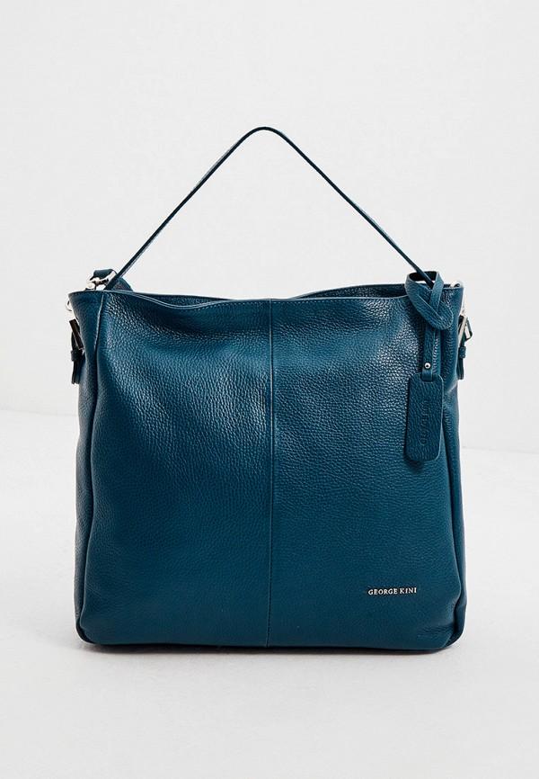 женская сумка с ручками george kini, бирюзовая