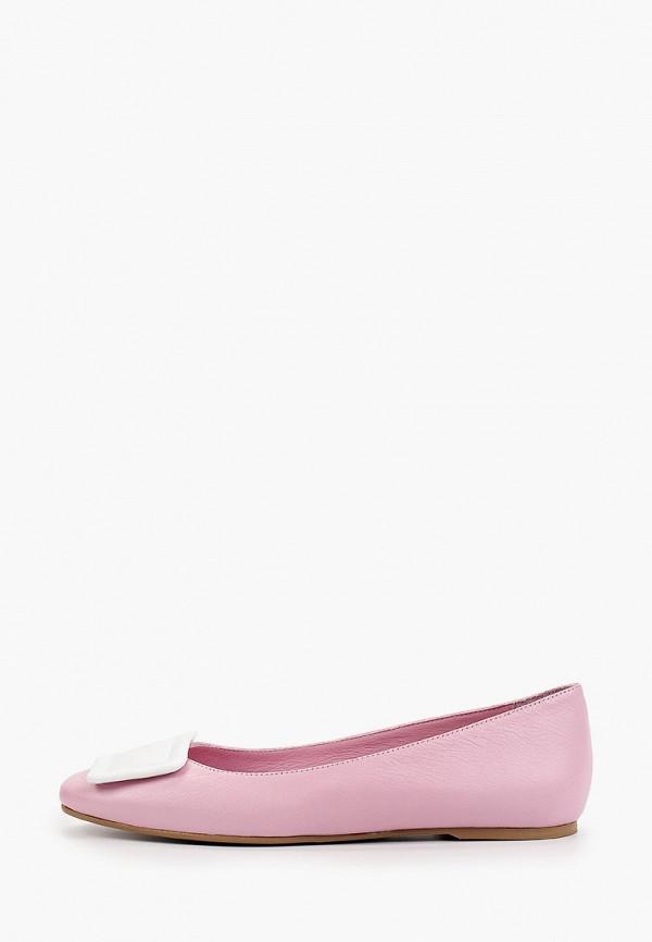 женские балетки marco bonne', розовые