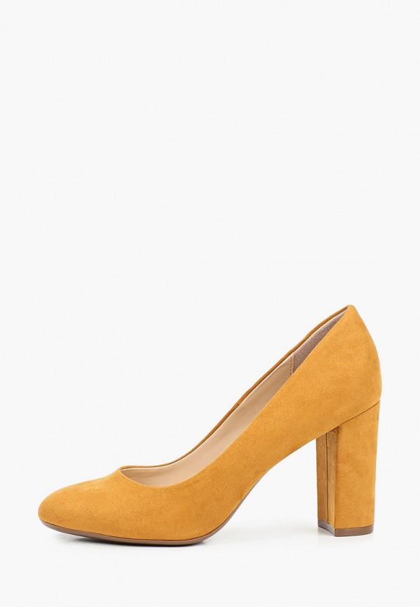 женские туфли с закрытым носом graceland by deichmann, желтые