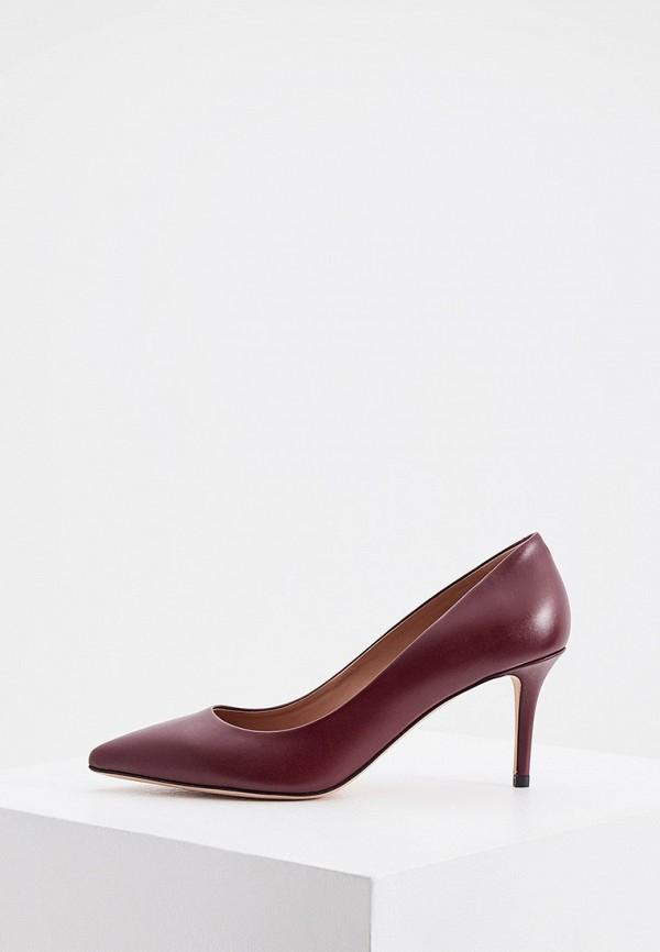 женские туфли-лодочки boss, бордовые