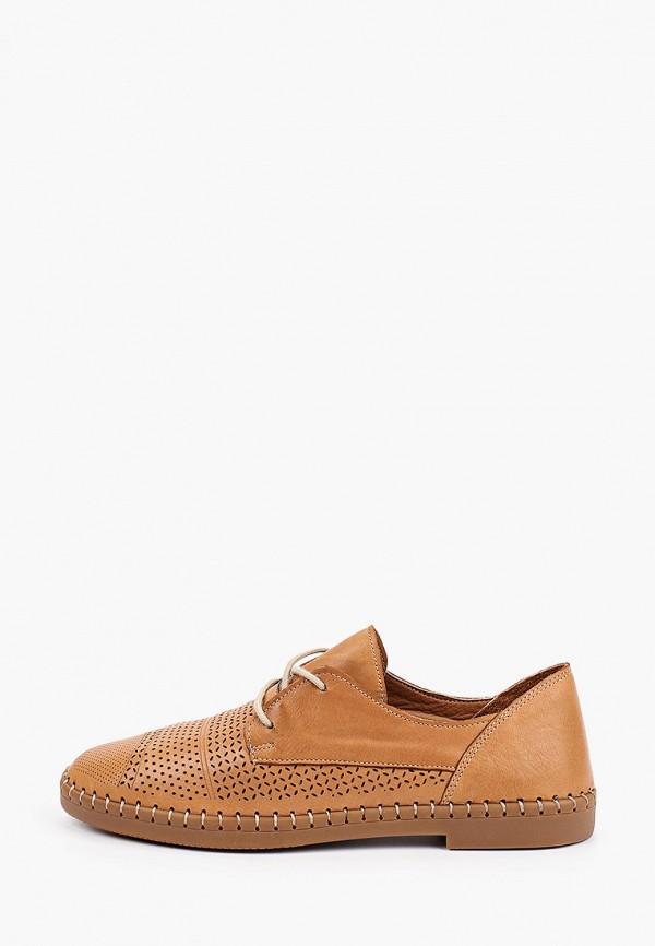 женские низкие ботинки love ballerin's, коричневые