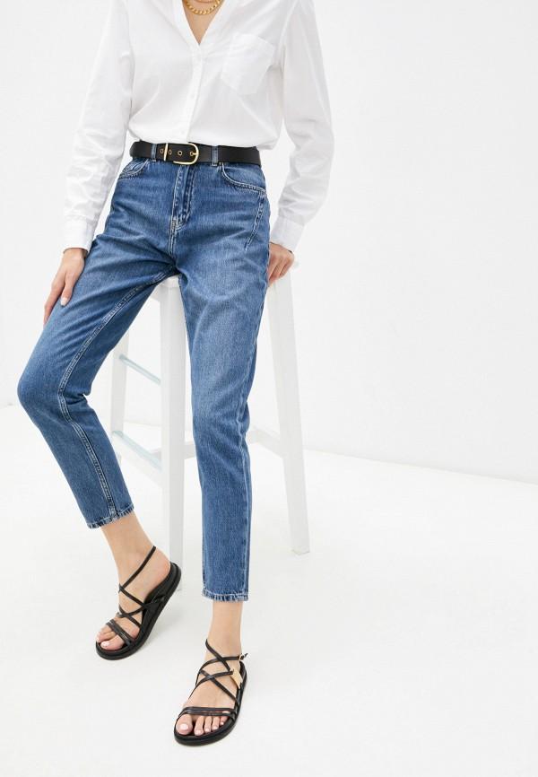 женские джинсы-мом bawer, синие