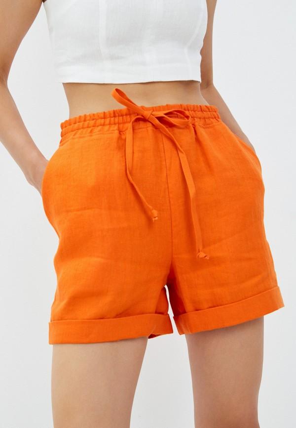 женские повседневные шорты ummami, оранжевые