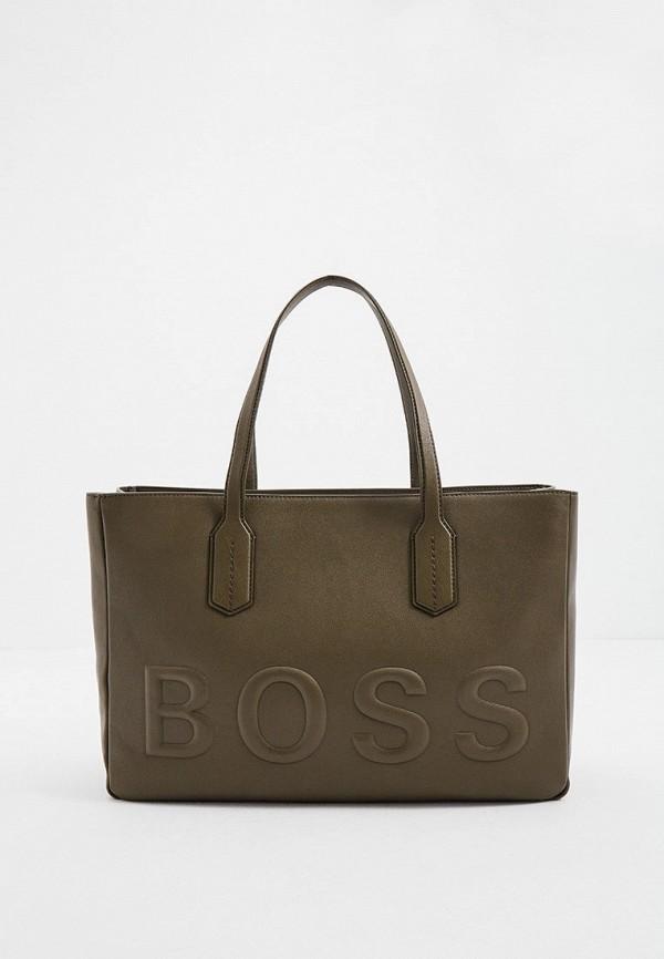 женская сумка-шоперы boss, хаки