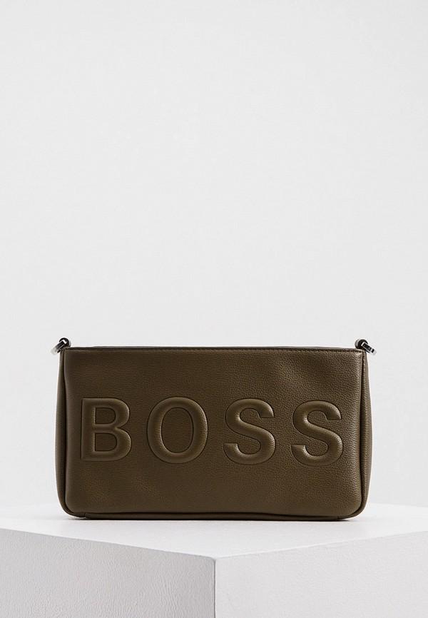 женская сумка через плечо boss, хаки