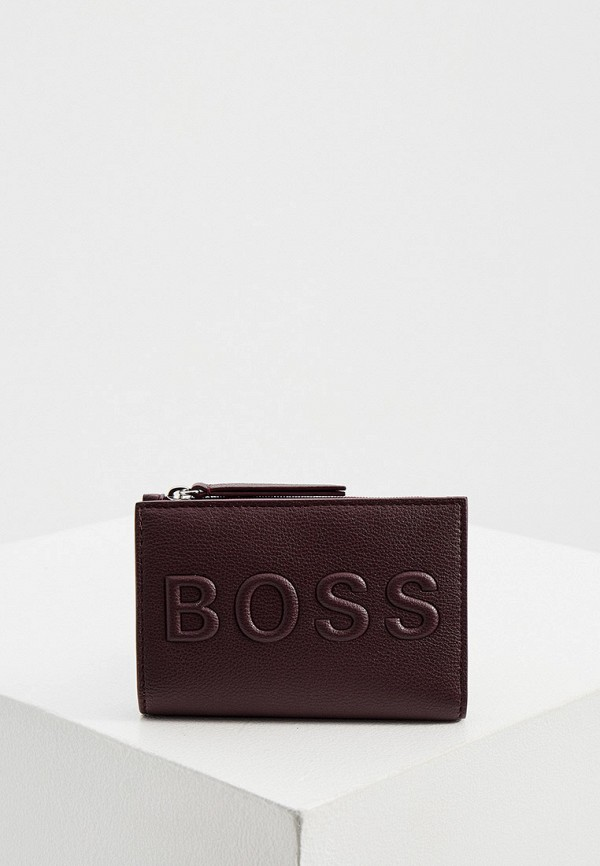 женский кошелёк boss, бордовый