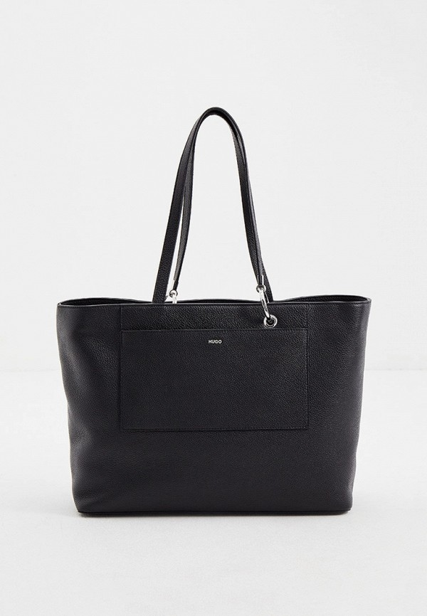 женская сумка с ручками hugo, черная