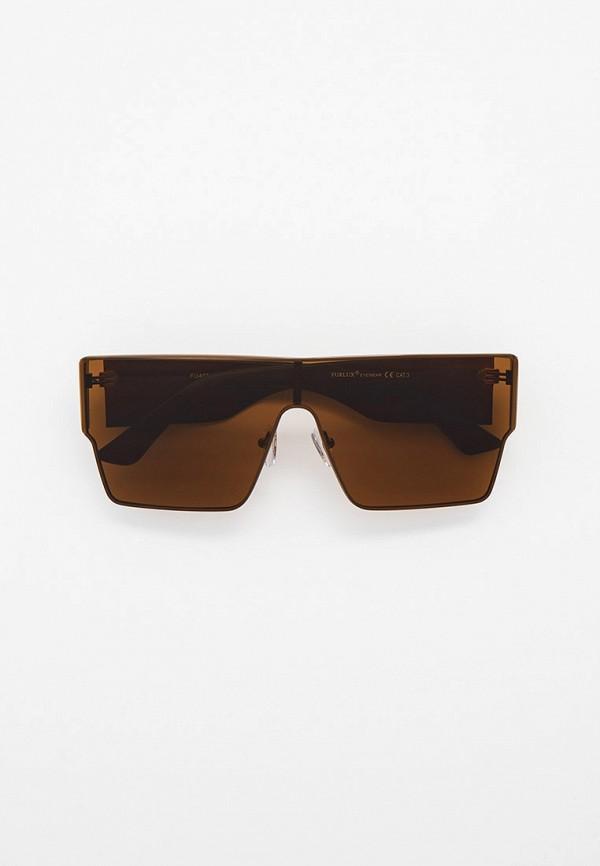 женские квадратные солнцезащитные очки furlux, коричневые