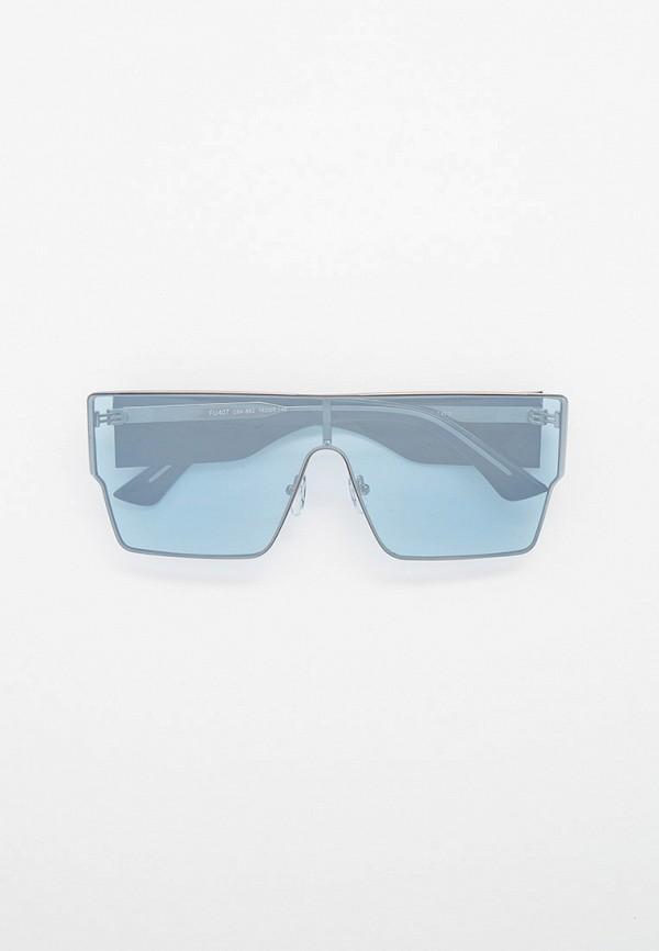 женские квадратные солнцезащитные очки furlux, голубые