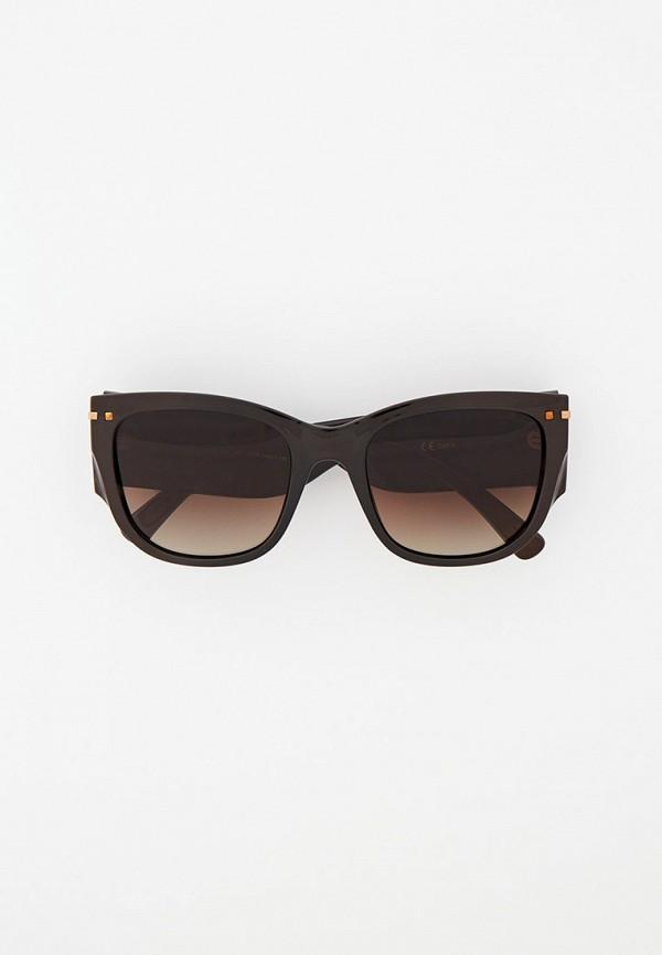 женские квадратные солнцезащитные очки katrin jones, коричневые