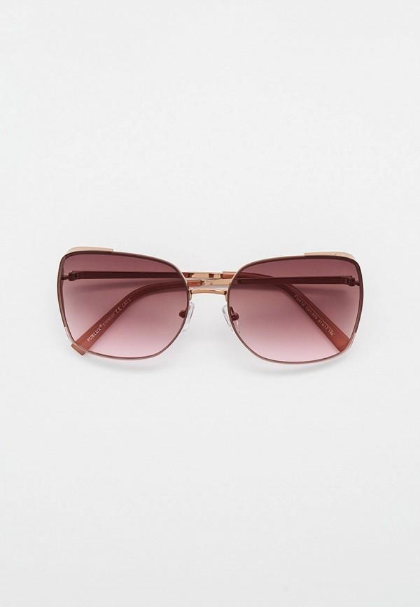 женские квадратные солнцезащитные очки furlux, золотые