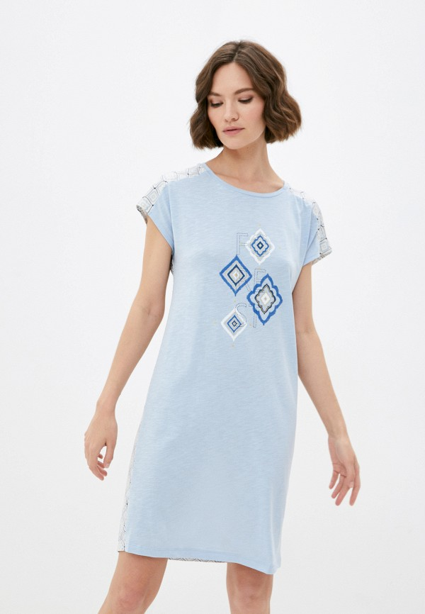 женское платье mark formelle, голубое