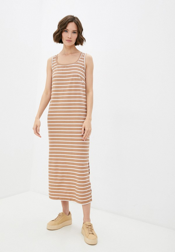 женское платье mark formelle, коричневое