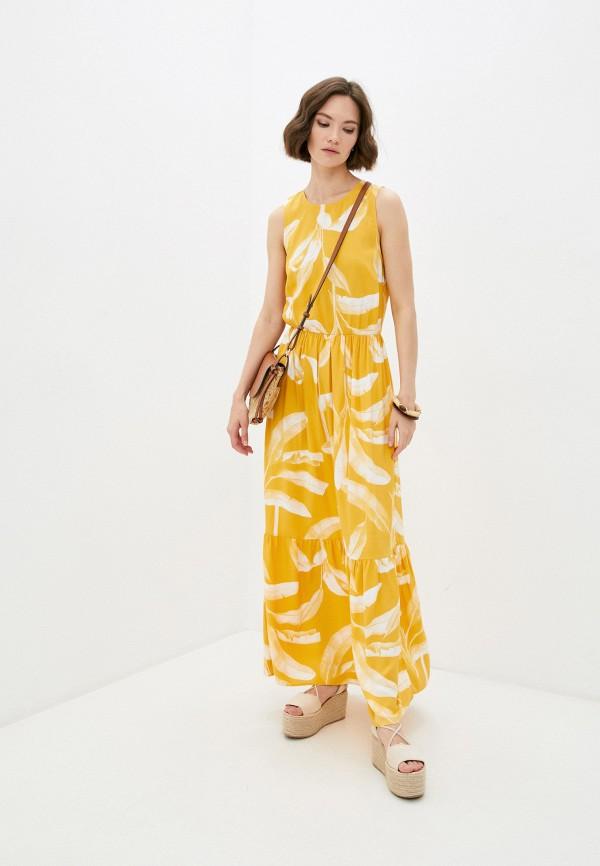 женское повседневные платье mark formelle, желтое