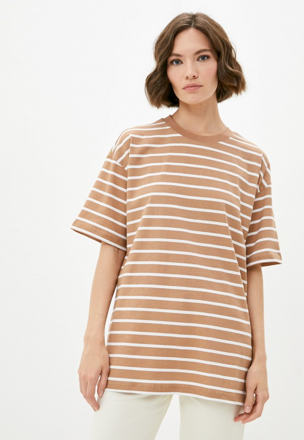 женская футболка mark formelle, коричневая