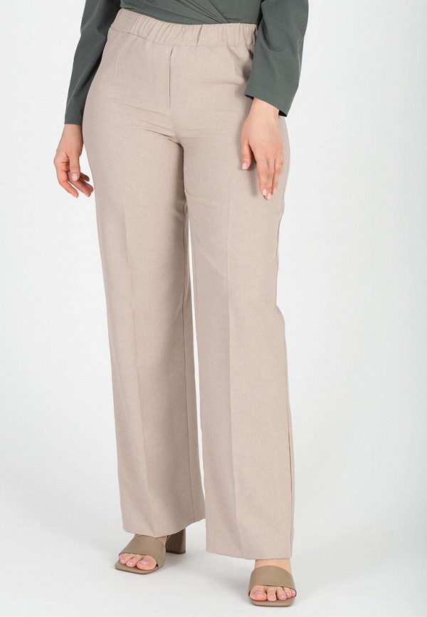 женские брюки джоггеры eliseeva olesya, бежевые