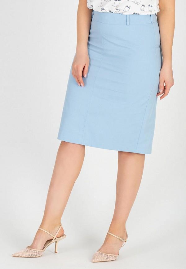 женская прямые юбка eliseeva olesya, голубая