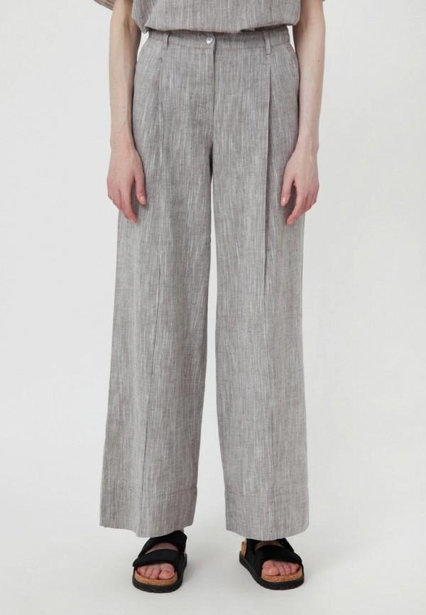 женские брюки клеш finn flare, коричневые